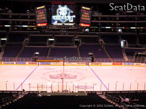 Seat view from Premier Section 14 at the Staples Center, home of the Los Angeles Kings