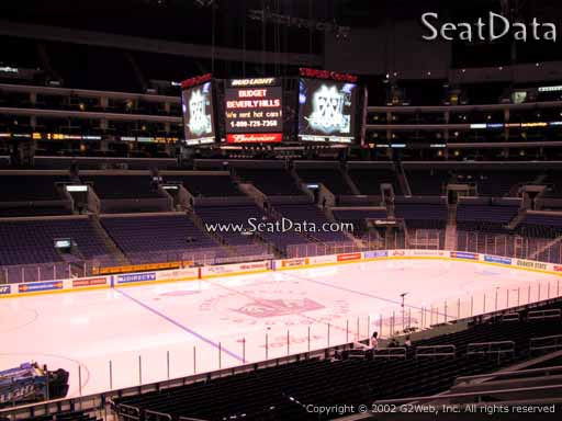Seat view from Premier Section 16 at the Staples Center, home of the Los Angeles Kings