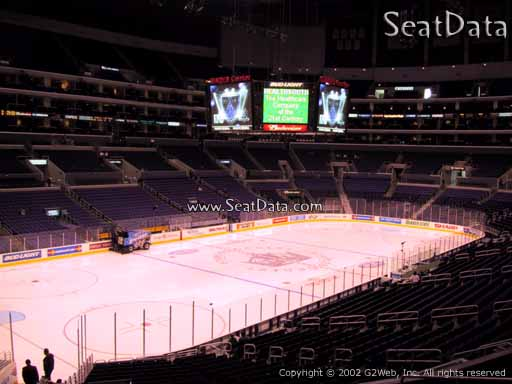 Seat view from Premier Section 18 at the Staples Center, home of the Los Angeles Kings