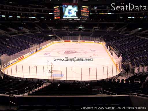 Seat view from section 207 at the Staples Center, home of the Los Angeles Kings
