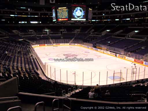 Seat view from section 209 at the Staples Center, home of the Los Angeles Kings