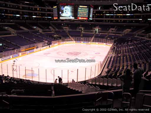 Seat view from section 215 at the Staples Center, home of the Los Angeles Kings