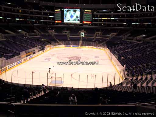 Seat view from section 216 at the Staples Center, home of the Los Angeles Kings