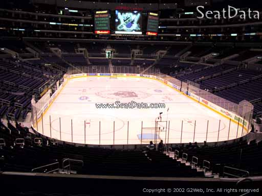Seat view from section 217 at the Staples Center, home of the Los Angeles Kings