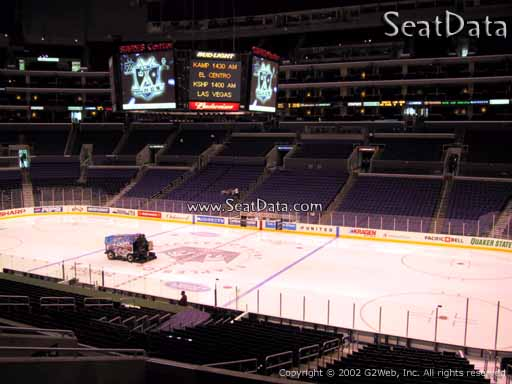 Seat view from Premier Section 3 at the Staples Center, home of the Los Angeles Kings