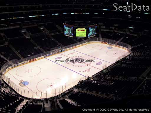 Seat view from section 305 at the Staples Center, home of the Los Angeles Kings