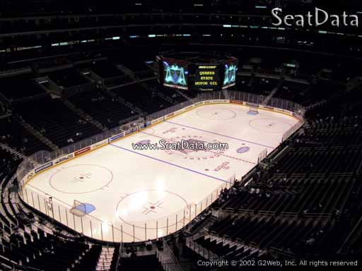 Seat view from section 306 at the Staples Center, home of the Los Angeles Kings