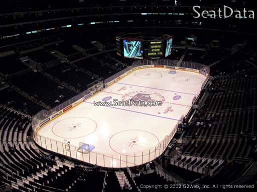 Seat view from section 307 at the Staples Center, home of the Los Angeles Kings