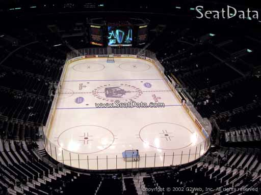 Seat view from section 310 at the Staples Center, home of the Los Angeles Kings