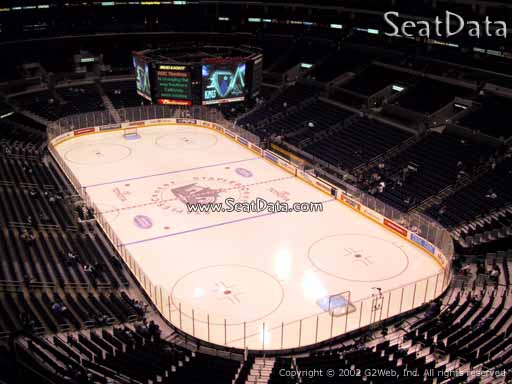 Seat view from section 312 at the Staples Center, home of the Los Angeles Kings