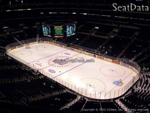 Seat view from section 314 at the Staples Center, home of the Los Angeles Kings