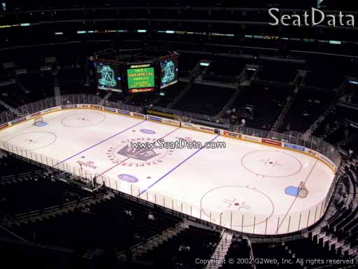 Seat view from section 315 at the Staples Center, home of the Los Angeles Kings