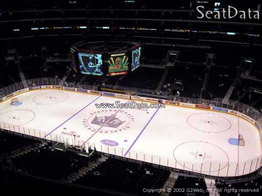 Seat view from section 316 at the Staples Center, home of the Los Angeles Kings