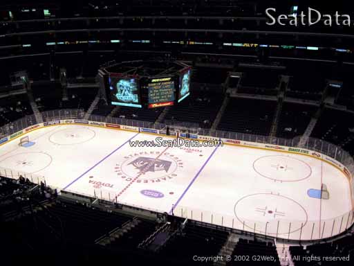 Seat view from section 333 at the Staples Center, home of the Los Angeles Kings