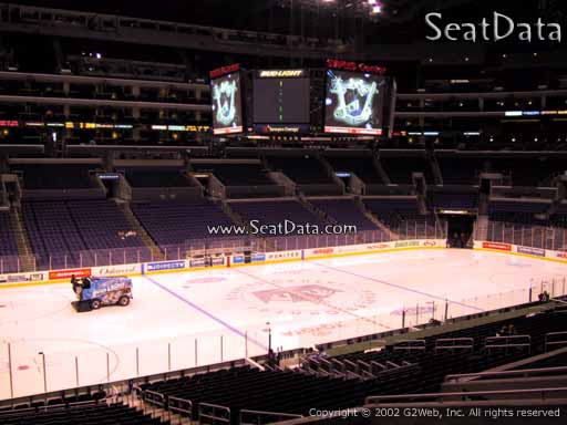 Seat view from Premier Section 7 at the Staples Center, home of the Los Angeles Kings