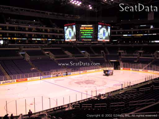 Seat view from Premier Section 8 at the Staples Center, home of the Los Angeles Kings