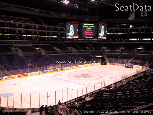Seat view from Premier Section 9 at the Staples Center, home of the Los Angeles Kings