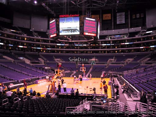 Seat view from section 115 at the Staples Center, home of the Los Angeles Lakers