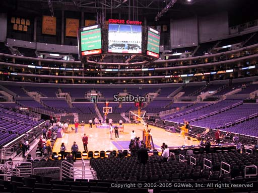 Seat view from section 116 at the Staples Center, home of the Los Angeles Lakers