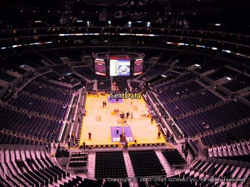 Seat view from section 310 at the Staples Center, home of the Los Angeles Lakers