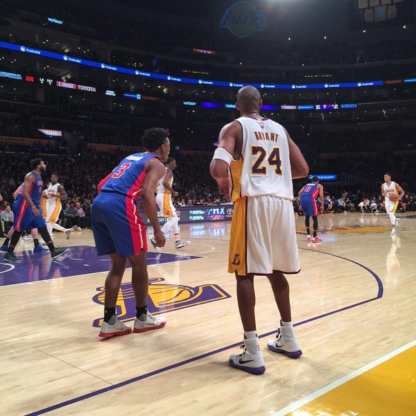 View from the Courtside Seats at the Staples Center during a Los Angeles Lakers Home Game