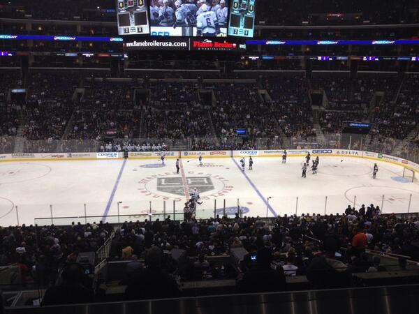 View of the Ice from PR14 at the Staples Center, Home of the Los Angeles Kings