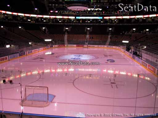 Seat view from section 102 at Scotiabank Arena, home of the Toronto Maple Leafs