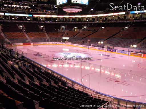 Seat view from section 105 at Scotiabank Arena, home of the Toronto Maple Leafs