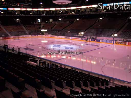 Seat view from section 106 at Scotiabank Arena, home of the Toronto Maple Leafs