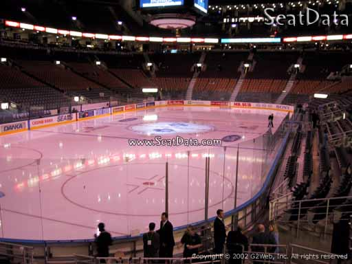 Seat view from section 112 at Scotiabank Arena, home of the Toronto Maple Leafs