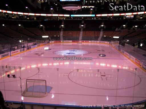 Seat view from section 113 at Scotiabank Arena, home of the Toronto Maple Leafs