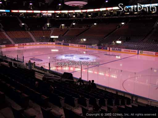 Seat view from section 117 at Scotiabank Arena, home of the Toronto Maple Leafs