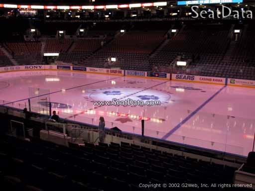 Seat view from section 118 at Scotiabank Arena, home of the Toronto Maple Leafs