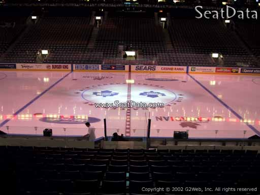 Seat view from section 119 at Scotiabank Arena, home of the Toronto Maple Leafs