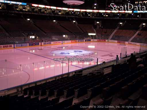 Seat view from section 121 at Scotiabank Arena, home of the Toronto Maple Leafs