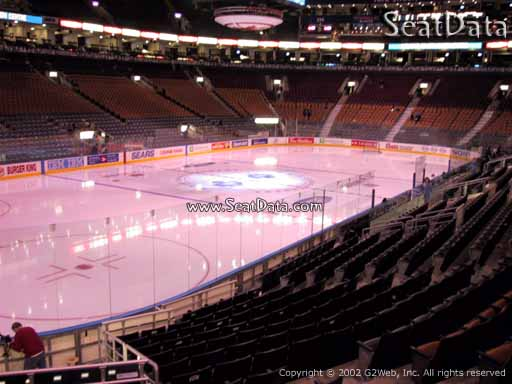 Seat view from section 122 at Scotiabank Arena, home of the Toronto Maple Leafs
