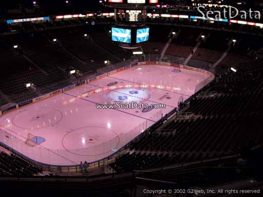 Seat view from section 301 at Scotiabank Arena, home of the Toronto Maple Leafs