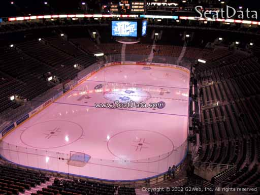 Seat view from section 302 at Scotiabank Arena, home of the Toronto Maple Leafs