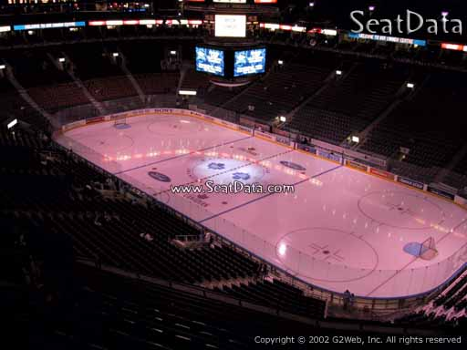 Seat view from section 306 at Scotiabank Arena, home of the Toronto Maple Leafs