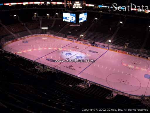 Seat view from section 307 at Scotiabank Arena, home of the Toronto Maple Leafs
