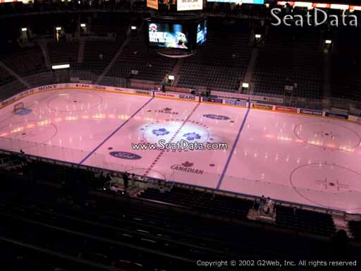 Seat view from section 308 at Scotiabank Arena, home of the Toronto Maple Leafs