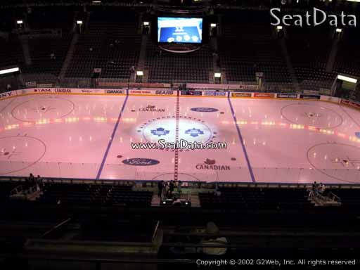 Seat view from section 309 at Scotiabank Arena, home of the Toronto Maple Leafs