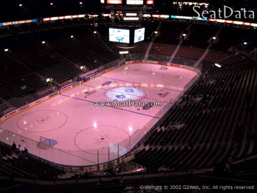 Seat view from section 313 at Scotiabank Arena, home of the Toronto Maple Leafs