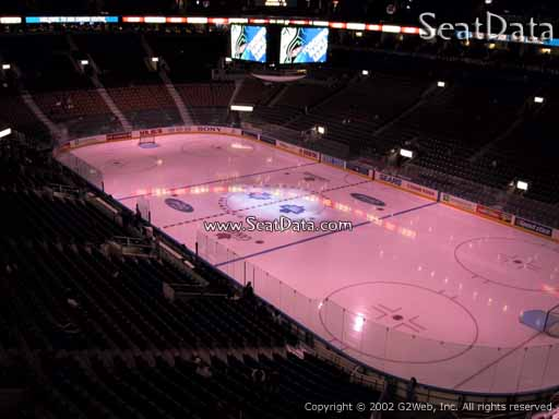 Seat view from section 317 at Scotiabank Arena, home of the Toronto Maple Leafs