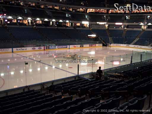Seat view from section 103 at Amalie Arena, home of the Tampa Bay Lightning