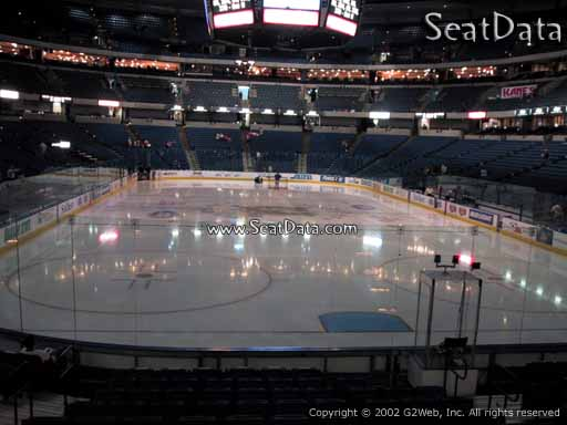 Seat view from section 109 at Amalie Arena, home of the Tampa Bay Lightning
