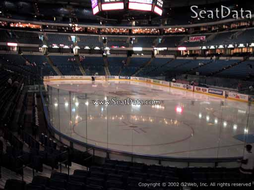 Seat view from section 110 at Amalie Arena, home of the Tampa Bay Lightning