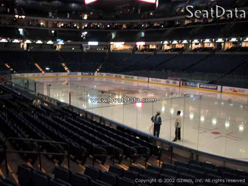 Seat view from section 128 at Amalie Arena, home of the Tampa Bay Lightning