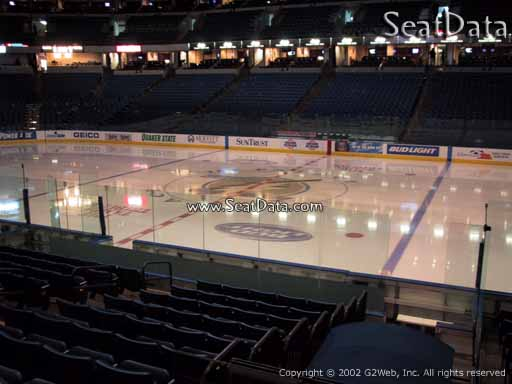 Seat view from section 130 at Amalie Arena, home of the Tampa Bay Lightning