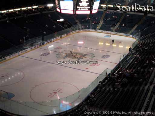 Seat view from section 206 at Amalie Arena, home of the Tampa Bay Lightning